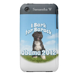 I Bark for Barack, Bo the First Dog Obama iPhone 3 Case-Mate Cases