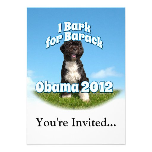 I Bark for Barack, Bo the First Dog Obama Personalized Invites
