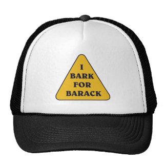 I-BARK-FOR-BARACK TRUCKER HATS