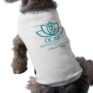 I Bark Teal! Sleeveless Dog Shirt