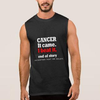 I beat Cancer.Customizable victory.Cancer free Sleeveless Shirt