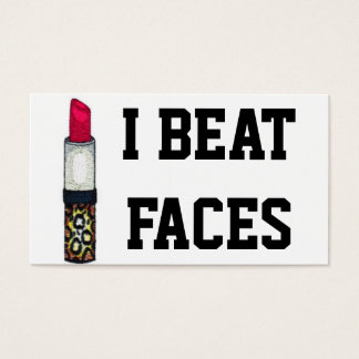 I BEAT FACES BUSINESS CARD