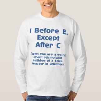 I Before E Grammar Rule Funny Long Sleeve T-Shirt