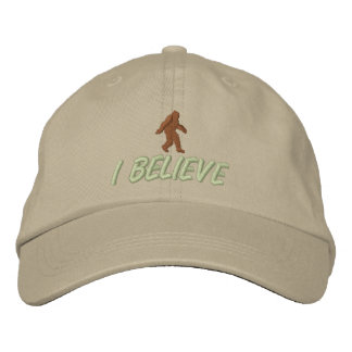 I Believe - Brown / light green stitching Embroidered Hat