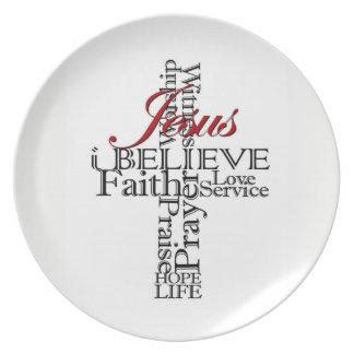 i believe Christian faith plate