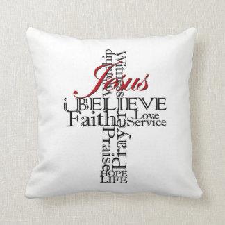 i believe Christian faith throw pillow