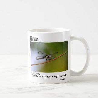 I Believe Coffee Mug With Dragonfly
