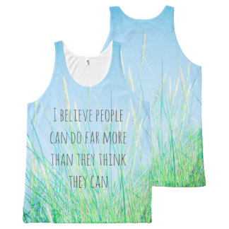 I believe, cool print all over unisex tank All-Over print tank top