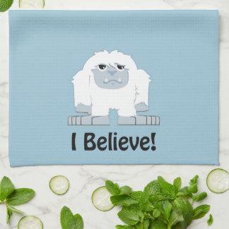 I Believe! Cute Yeti Tea Towel