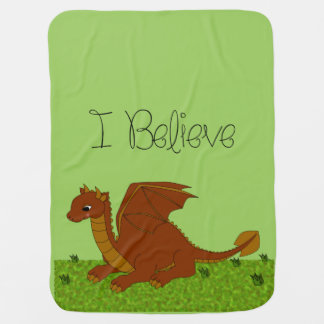 I Believe - Dragon - change color Baby Blanket