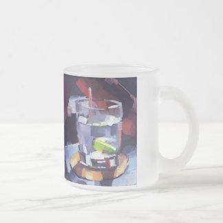 I believe (glass) frosted glass coffee mug