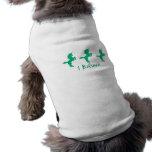 I Believe Green Unicorn Design Sleeveless Dog Shirt