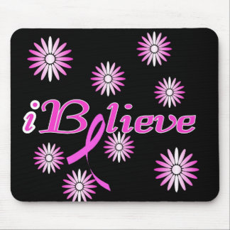 I BELIEVE in a Cure for Breast Cancer Mouse Pad