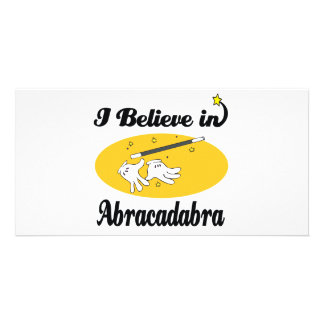 i believe in abracadabra picture card