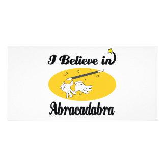 i believe in abracadabra customized photo card