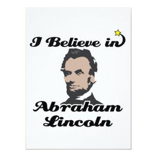 i believe in abraham lincoln 17 cm x 22 cm invitation card