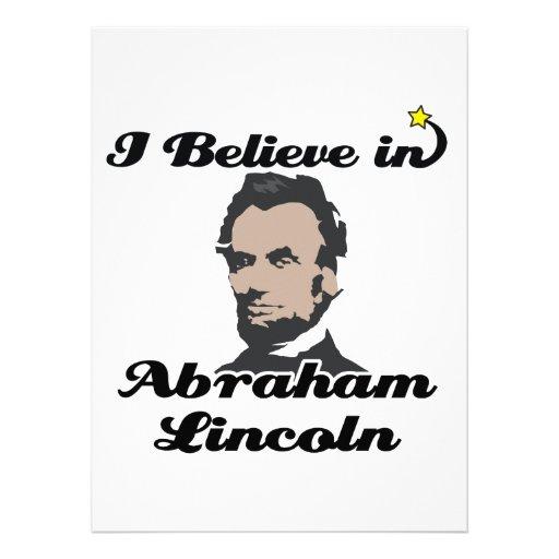 i believe in abraham lincoln personalized invite