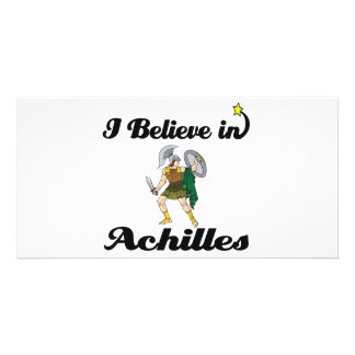 i believe in achilles personalised photo card