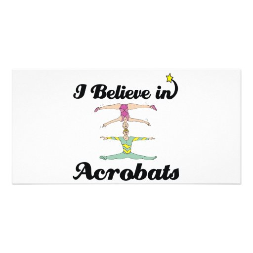 i believe in acrobats photo card template