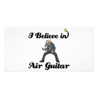 i believe in air guitar photo card template
