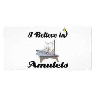 i believe in amulets photo greeting card
