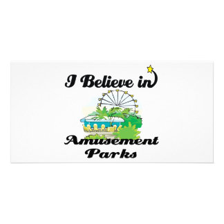 i believe in amusement parks photo card template