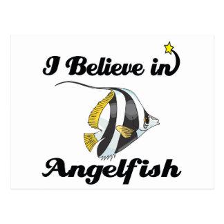i believe in angelfish postcard