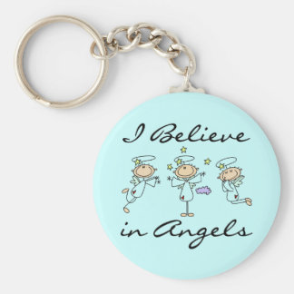 I Believe in Angels Keychain
