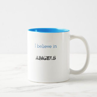 I Believe in Angels mug large wings