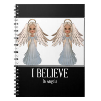 I believe in angels spiral note book