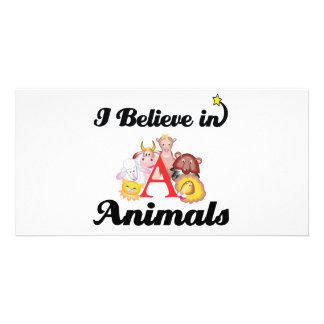 i believe in animals photo card template