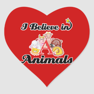 i believe in animals stickers