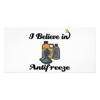 i believe in antifreeze customized photo card