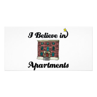 i believe in apartments photo greeting card