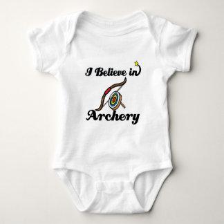 i believe in archery baby bodysuit