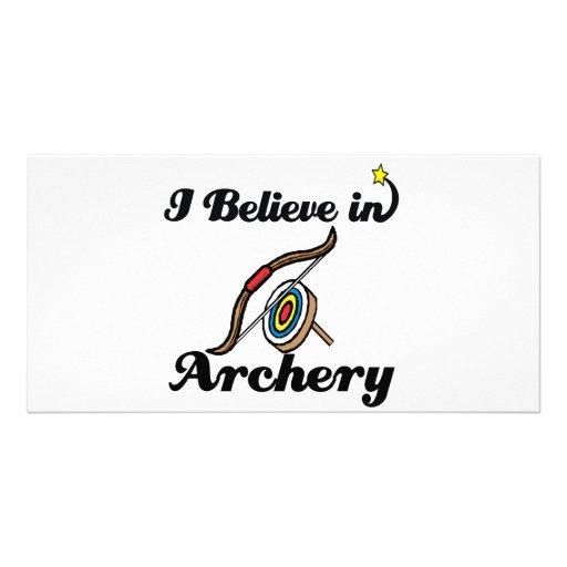 i believe in archery photo greeting card