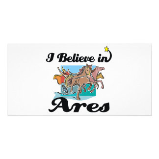 i believe in Ares Personalised Photo Card