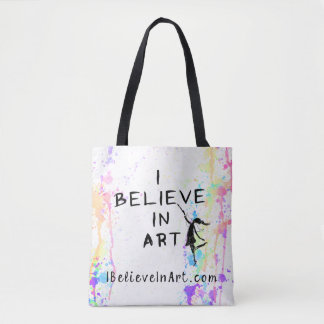 I Believe In Art Watercolor Run Promotional Tote Bag