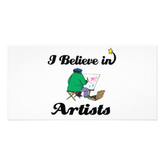 i believe in artists photo card template