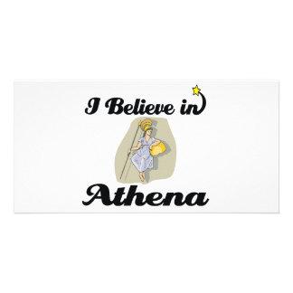 i believe in Athena Photo Cards
