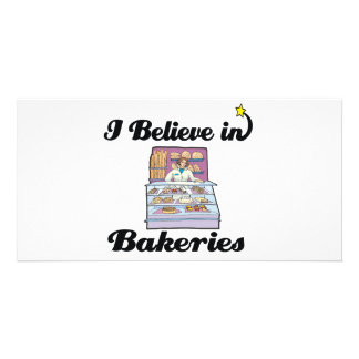 i believe in bakeries picture card