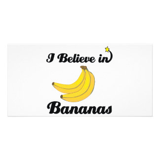 i believe in bananas photo card
