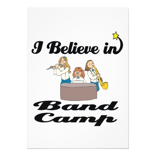 i believe in band camp personalized announcements