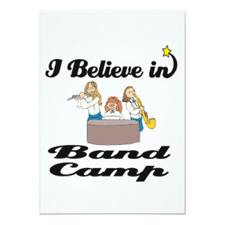 "i believe in band camp 5"" x 7"" invitation card"