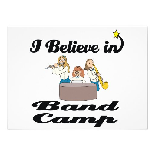 i believe in band camp personalized invite