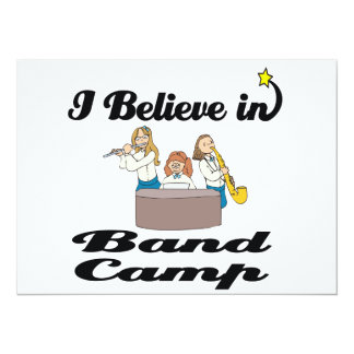 "i believe in band camp 5.5"" x 7.5"" invitation card"