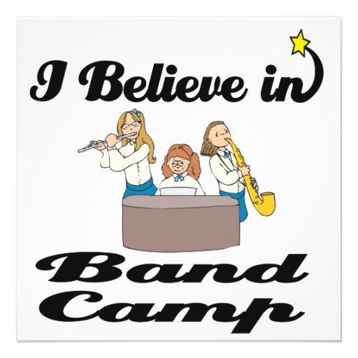 i believe in band camp custom invitation