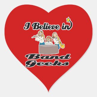 i believe in band geeks sticker