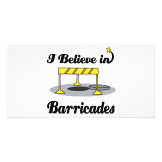 i believe in barricades personalized photo card