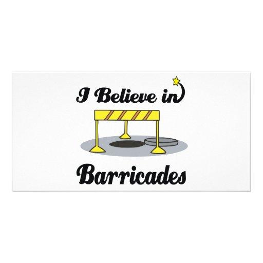 i believe in barricades customized photo card
